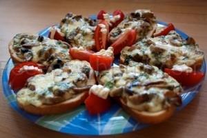 Рецепт бутербродов с грибами