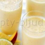 Коктейль молочный с дыней
