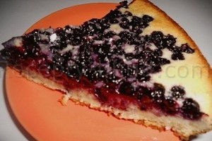 Рецепт пирога с черникой