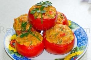 Рецепт помидор с ветчиной и сыром