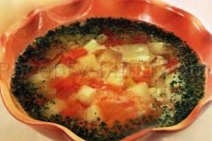 Рецепт постного супа с овощами и рисом