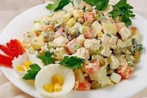 Рецепт салата нежность