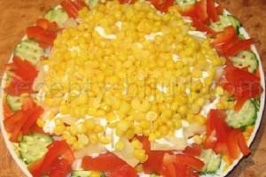 Рецепт салата из курицы с ананасами