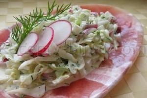 Салат с огурцом и пекинской капустой рецепт