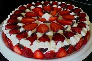 Торт Клубника со сливками рецепт