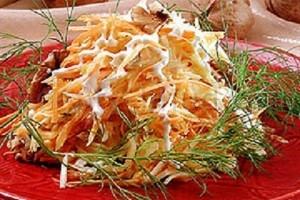 Салат из тыквы с яблоком и морковью рецепт
