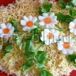 Салат с крабовыми палочками и помидорами Черри