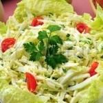 Салат с ветчиной и огурцом