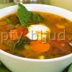 Суп с индейкой и макаронами
