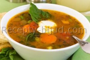 Суп с индейкой и макаронами Рецепт