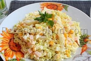 Салат с кукурузой и пекинской капустой рецепт