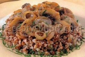Гречневая каша с грибами рецепт