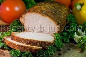 Запеченная свиная корейка рецепт