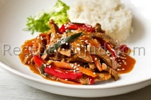 Телятина с овощами по-китайски рецепт