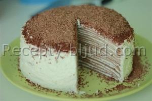 Блинный торт с заварным кремом рецепт