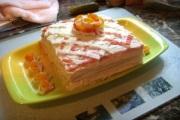 Закусочный торт из крабовых палочек