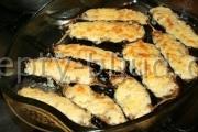 Рецепт грибного жульена в баклажанах