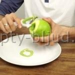 Быстрая очистка яблока по-мужски
