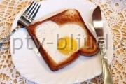 Яичница в хлебе рецепт