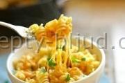 Паста с сырным соусом рецепт