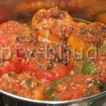 Перец, фаршированный мясом