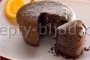 Шоколадные кексы с жидкой начинкой рецепт
