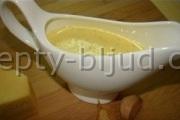 Сырный соус рецепт