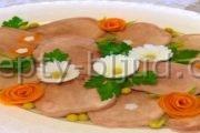 Рецепт Заливное из языка с фото