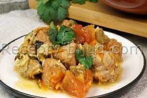 Свинина в горшочке с баклажанами рецепт